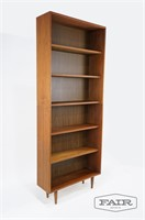 Tall Bookcase with Tapered Feet