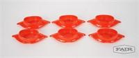 Set of 6 GlasBake Crab Dishes