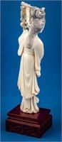Pair Vintage Asian Ivory Female Figures