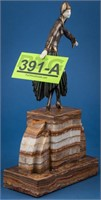 Art D Chiparus Etling Gilt-Bronze Ivory Sculpture