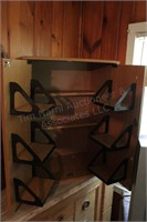 "30""x23"" Wood Locking Media Cabinet"