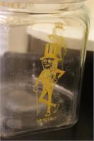 "Planters ""Mr. Peanut""  8"" Glass Peanut Jar"