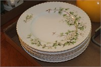 Franconia, Germany Floral Dinner Plates 7 piece