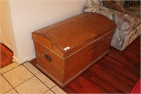 """41""""x23 Curved Top Wood Chest"""