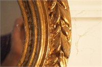 """Oval Mirror with Frame 44"""" Length"""