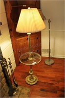"""Lamp stand with Built in 16"""" Round Glass Table Top"""
