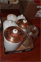 6pc Ceramic & Glass Food Storage