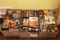 3 boxes VHS Tapes and Movies