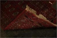 3'x6' Entry Rug Red Geometric Design