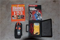 Klein AC Clamp Meter, Multimeter, with Cases & Acs