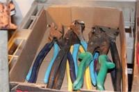 8pc Klein, Channel Lock, Craftsman Pliers, Snips