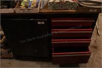 """4 Drawer 54"""" Metal Work Bench, Wood Top"""