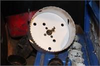 Hole Saw Kit w/ case, Large Hole Saw Blades, etc