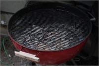 Red Weber Charcoal Grill