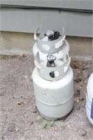 4pc Propane Tanks- 2-15lb and 2- Smaller