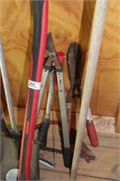 10pc Flat Shovel, Garden Weeder, Sheers, Axe, etc