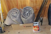 2pc Adult Sleeping Bags, Many Hand Warmers, more