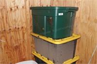 4pc Poly Storage Bins w/ Lids