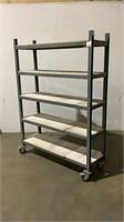 Custom Rolling Shelf-