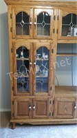Solid Wood & Glass Entertainment Cabinet