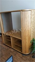 Solid Wood Entertainment Center w Top