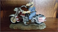Pig on a Motorcycle Figurine
