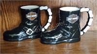 2 Harley Davidson Mugs