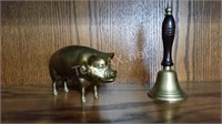 Brass Pig and Bell