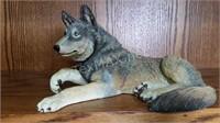 Wolf Figurine Bank