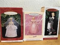 (3) Hallmark Barbie Collector Ornaments