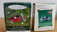 (6) Hallmark Miniature Harley Ornaments