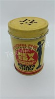 Vintage Metal Advertising Shaker