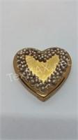 Vintage Heart Compact