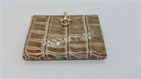 New Vera Pelle Alligator Embossed Leather Wallet