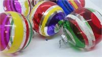 6 Christopher Radko Shiny Brite Ornaments