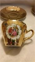 Vintage Golden Crown Tea Cup Set