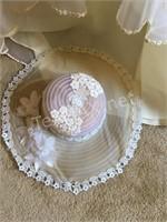 Vintage Wedding Dress and Hat