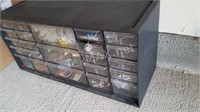 Metal Nut & Bolt Organizer with Contents