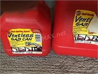 2 Plastic Gas Cans