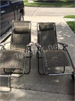 2 Outdoor Fold Out LoungeChairs