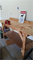 Wood Work Table with Vice