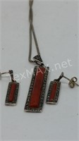 925 Necklace and Earrings