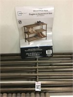 3 TIER WOOD SHOE RACK (NOT ASSEMBLED) (AS IS)