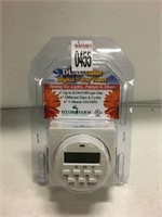 DUAL OUTLET DIGITAL 7 DAY TIMER (AS IS)
