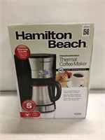HAMILTON THERMAL COFFEE MAKER (AS IS)
