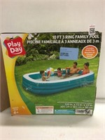 PLAY DAY 10' 3 RING POOL  (AS IS)