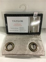 TAYLOR LINED BLACKOUT GROMMET PANEL 50IN X 84IN