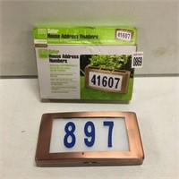 SOLAR HOUSE ADDRESS NUMBERS (SOLD AS IS)