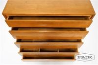 Conant Ball Maple Tall 5 Drawer Dresser