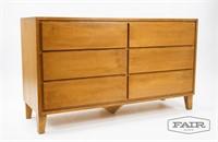 Conant Ball Maple Long Low 6 Drawer Dresser